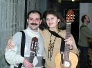 Перед выступлением. Д.Матюшин и В.Солянина