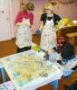 Изготовление фестивальной картины методом батика