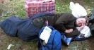 Вытащили Доктора из палатки: упорно не просыпается