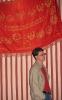 На фоне советского флага