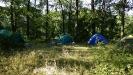 Наш лагерь на Кольском бугорке. Потом палаток стало больше