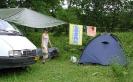 Поставили лагерь и вывесили флаг