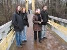 На висячем мосту
